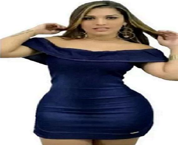 Vestido Feminino Ciganinha Jeans Leve Tendência Blogueiras