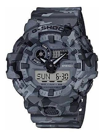 Relógio G-shock Camuflado - Cinza