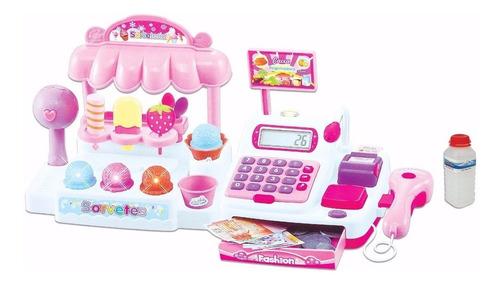 Imagem 1 de 2 de Caixa Registradora Sorveteria Infantil Brinquedo Dinheiro
