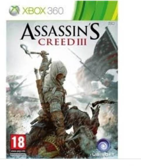 Jogo Xbox 360 Midia Fisica Assassins Creed 3 Dvd Duplo