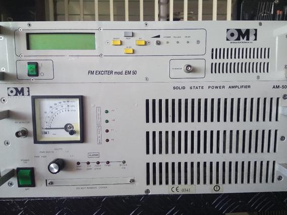 Transmisor Fm Omb Am-500 500 W Excitador + Amplificador