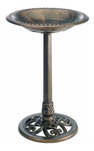 Imagen 1 de 1 de Pedestal De Jardin Tipo Bebedero De Aves Fuente Gold