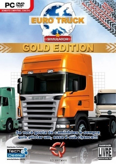 Euro Truck Simulator Gold Edition - Midia Fisica - Pc Dvd