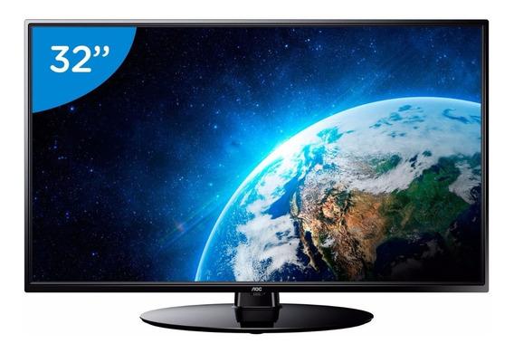 Tv Led 32 Hd Aoc Le32bh1465 2 Hdmi 1 Usb Conversor Digital