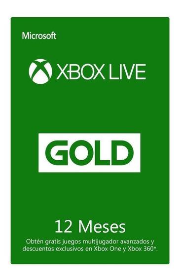 Suscripción De 12 Meses Xbox Live Código Digital