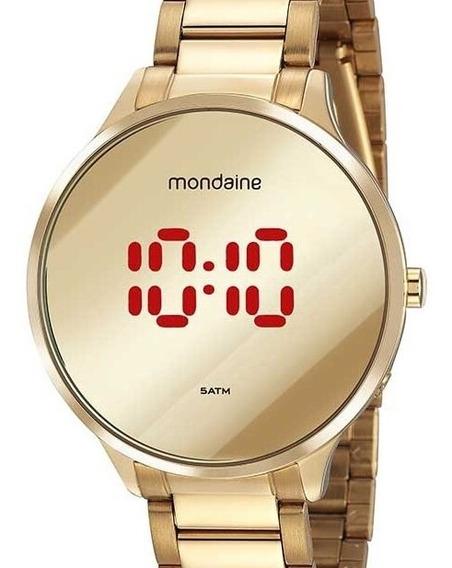 Relógio Mondaine Feminino Dourado Digital 32060lpmvde1
