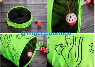 Juguete Tunel Con Pelota Para Gatos
