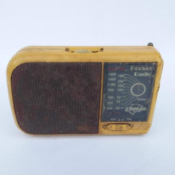Antigo Radio Da Marca Cougar (cod.4463)