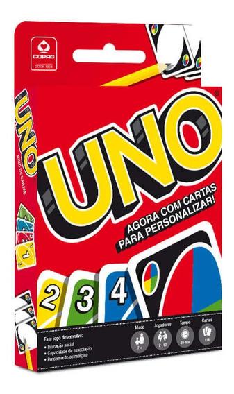 5 Jogo Baralho Uno Cards Original Copag Diversão P/ Crianças