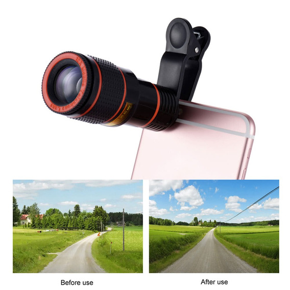 Universal 12x Zoom Mobile Phone Clip-on