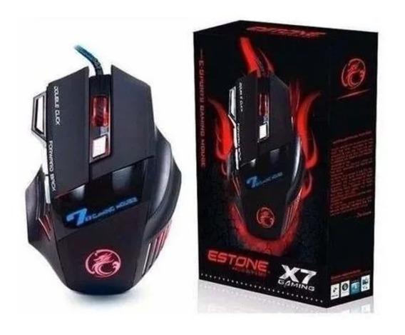 Mouse Gamer B-max X7 Confortável E Luz Led
