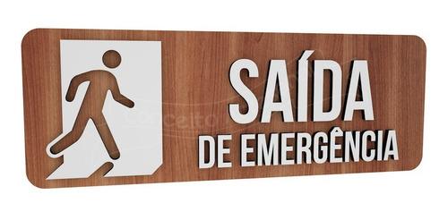 Imagem 1 de 2 de Placa Sinalização Saída De Emergência Hotel Restaurante Bar