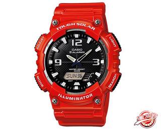 Reloj Casio Aq-s810w Hombre Original 5 Alarmas Solar