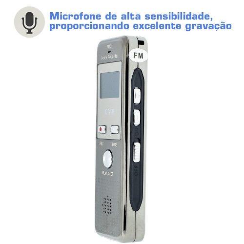 Gravador De Chamadas Voz Com Fone Ouvido Microfone Para