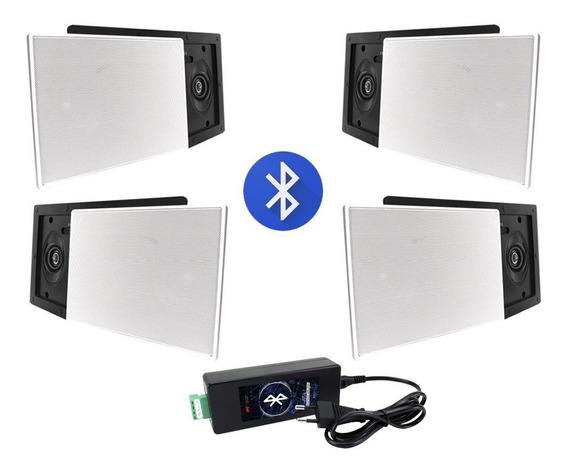 Kit Amplificador Bluetooth Aat 40w + 4 Caixas Aat Lrm-70