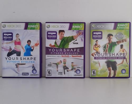 Coleção Your Shape Fitness Evolved Xbox 360 Original 3 Jogos