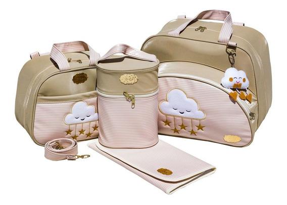 Bolsa De Bebe Da Gaby Mundo Infantil Nuvem Feliz 4p