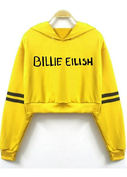 Buzo Billie Eilish Amarillo 3 Logo Wdwg Friza Corto Pupera