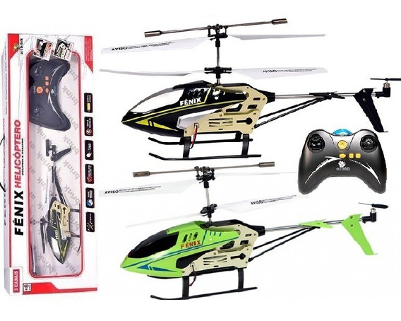 Helicóptero Fenix Controle Remoto Voa Estável Gyro Drone Ful