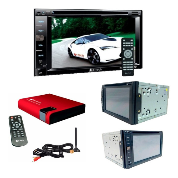 Central Mulmidia Dvd Bluetooth 2 Din + Receptor Tv Digital