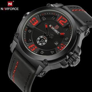 Reloj Naviforce Original Hombre Malla De Cuero