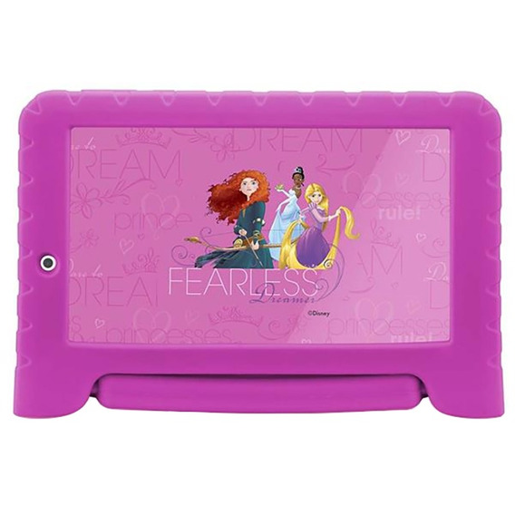 Tablet Multilaser Princesas Android Quad Core 8g 7pol Rosa