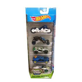 Hot Wheels Max Steel Pack De 5 Carros