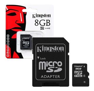 3 Cartões De Memória Kingston De 8gb Original + Adaptador