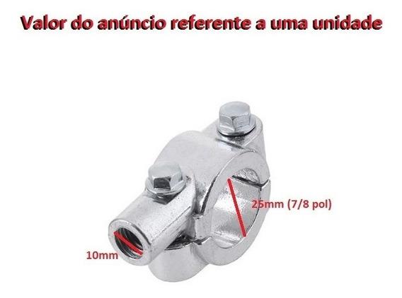 Abraçadeira De Guidão Para Retrovisor De Moto 10mm - Unidade