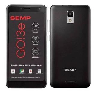 Smartphone Semp Go 3e, Preto 5 8gb, Câmera 5+8 Mp 3g Novo Nf