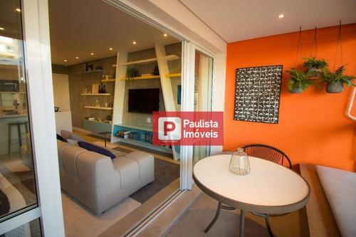 Apartamento Com 1 Dormitório À Venda, 42 M² - Campo Belo - São Paulo/sp - Ap27204