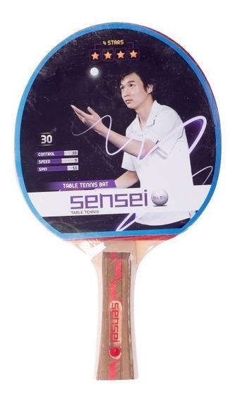 Paleta Ping Pong Tenis Mesa Sensei 4 Estrellas Pingpong