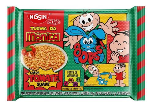 Nissin Miojo Tomate Suave Turma Da Mônica Pacote 85g