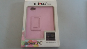 Capa Case Couro Rosa Tablet P6200 12x18,8 Lelong