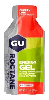 Gel Energetico Running Gu Roctane Cafeina Cherry Lime 32gr