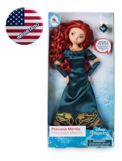 Princesa Merida Disney Boneca 30 Cm C/ Anel Original