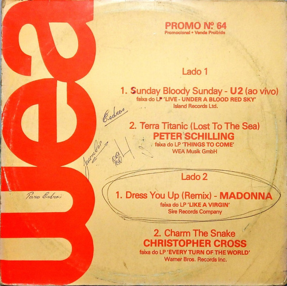 Wea Lp Promo 64 U2 Peter Shilling Madonna Christopher 15184