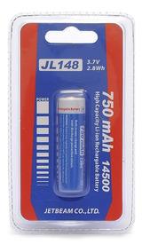 Bateria Jetbeam Jl148 Tamanho 14500 Capacidade 750 Mah