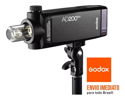 Imagem 1 de 6 de Godox Ad200 Pro - Flash Bateria - Modelo Pro
