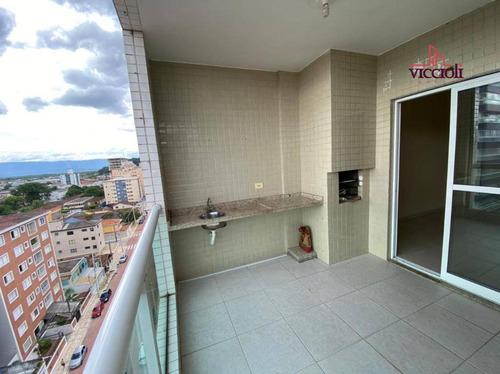 Apartamento Com 2 Dormitórios Para Alugar, 72 M² Por R$ 2.100,00/mês - Boqueirão - Praia Grande/sp - Ap1899