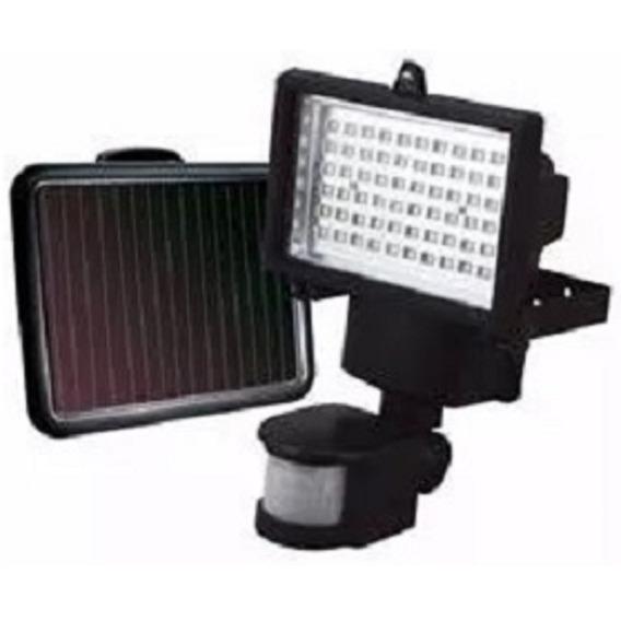 Refletor Holofote Solar Led Luminaria Jardim Branco Sensor