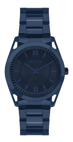 Relógio Euro Feminino Metal Frame Azul Eu2035ypq/4a