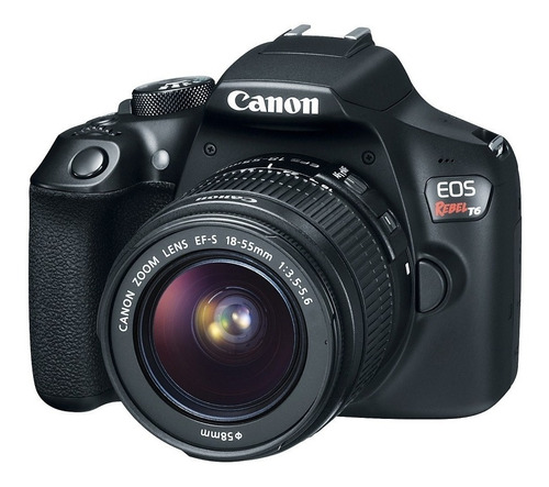 Canon EOS Rebel T6 18-55mm IS II Kit DSLR color negro