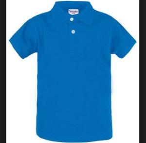 Camisa Tipo Polo Color Azul Rey Tallas S Y M