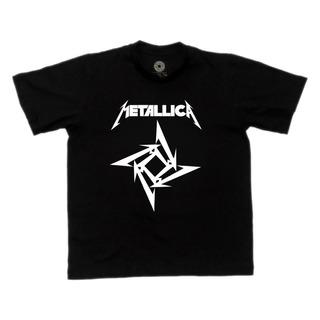 Camiseta Juvenil Metallica Preta