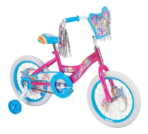 Imagen 1 de 4 de Bicicleta Huffy My Little Pony R16 Para Niñas Edad 4-6 Años
