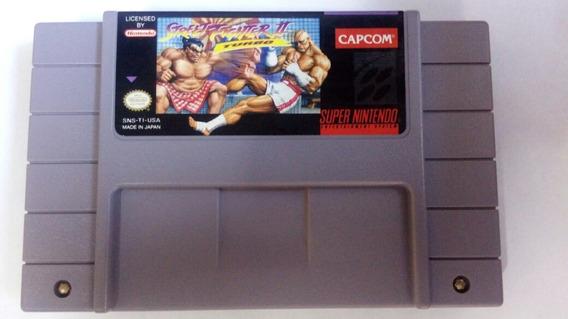 Cartucho Super Nintendo Street Fighter 2 Turbo