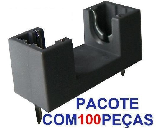 100 Porta Fusiveis Pequeno Para Placa De Circuito Impresso