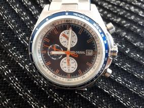 Relógio Masculino Original Fossil Prata Em Aço Inoxidável