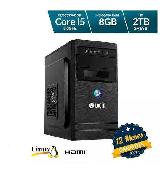 Computador Desktop Login Intel Core I5 8gb Ram 2tb Hd Linux